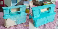Puppenhaus-Möbel lackieren
