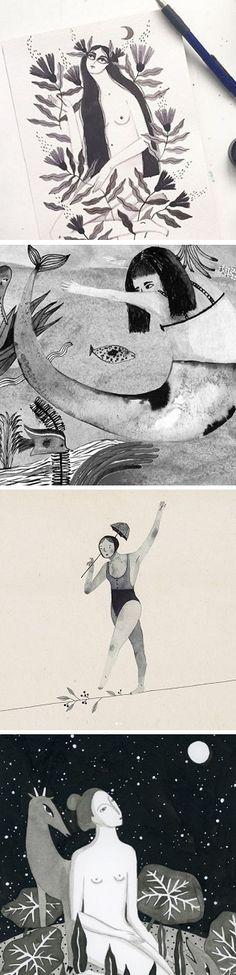 21 Inktober illustrations