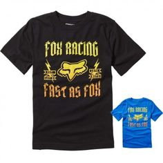 Fox Racing Ruppe Short Sleeve Motocross Off Road Youth Boys T-Shirt Fox  Logo ad737a0a9a8