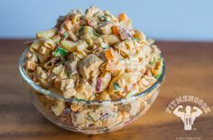 Chipotle Chicken Quinoa-Macaroni Salad | Fit Men Cook -- Hats off to Kevin Curry for this FANTABULOUS recipe!!!!
