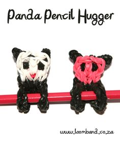 Panda Pencil Hugger Loom band tutorial, instructions and videos on hundreds of loom band designs. Shop online for all your looming supplies, delivery anywhere in SA.