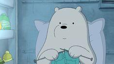 We bare bears, illustration, cute, art Ice Bear We Bare Bears, We Bear, Bear Wallpaper, Disney Wallpaper, Bear Gif, We Bare Bears Wallpapers, Happy Cartoon, Polaroid, Cartoon Icons