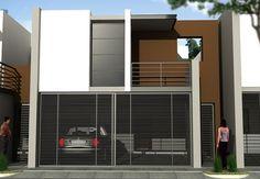 Fachadas de casas con rejas horizontales en la cochera