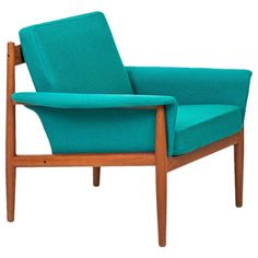 Finn Juhl Easy Chair Model Grand Danois by France & Daverkosen in Denmark | See more antique and modern Lounge Chairs at https://www.1stdibs.com/furniture/seating/lounge-chairs