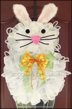 Easter+Bunny+Wreath+by+aDOORableDecoWreaths+on+Etsy,+$75.00