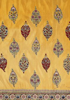 style court: On the Borderline Again  - Skirt cloth, silk embroidered with silk thread, Kutch, Gujurat, circa 1850 ©Victoria & Albert Museum.