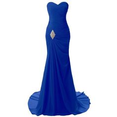 JYDRESS Women's Sweetheart Mermaid Long Evening Dress Formal Prom... (€47) ❤ liked on Polyvore featuring dresses, gowns, blue gown, long blue dress, long formal dresses, blue evening gown and formal evening gowns