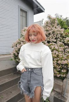 Find images and videos about kfashion, asian fashion and kstyle on We Heart It - the app to get lost in what you love. Korean Girl Fashion, Ulzzang Fashion, Kpop Fashion, Ulzzang Girl, Denim Fashion, Asian Fashion, Fashion Outfits, Minimal Fashion, Asian Style