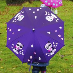 Back to School Essentials Kids Umbrellas, Back To School Gifts, Gifts For Kids, Panda, Children, Unique, Colour, Presents For Kids, Young Children