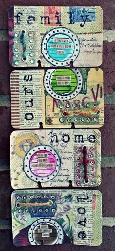 Altered Rolodex Card Art Journal: Life Series (Junquemail Contessa) Unity Stamp Company, Tattered Angels, Susan Lenart Kazmer