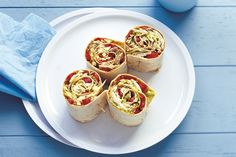 These satay chicken wraps are perfect for eating in front of the footie final.