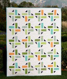 Division Quilt Pattern PDF Baby Throw Twin & door aBrightCorner