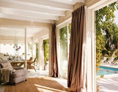 Endless summers in Marbella Luxury Interior Design, Interior And Exterior, Design Lounge, Sleeping Porch, Ideal Home, Outdoor Rooms, Beautiful Interiors, Luxury Homes, Family Room