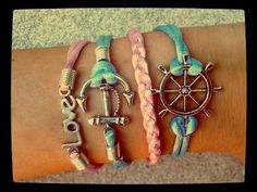Sail beautiful bracelet Braided braclets Diy accessories Simple jewelry
