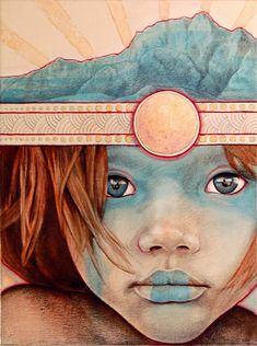 red-lipstick:    MichaelShapcott - Sun Child 1, 2008 Traditional Arts: Paintings