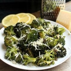 ROASTED BROCOLI - put a few Tbsp of olive oil, salt, pepper and broccoli in a Ziploc bag and shake. Then spread on a cookie sheet and spread minced garlic over it and roast at 425 F for 20-25 minutes.  Toss with fresh lemon juice and Parmesan cheese.  Serve - MADE & LOVED