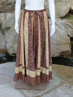Your place to buy and sell all things handmade Festival Skirts, Festival Outfits, Hippie Skirts, Calico Fabric, Tiered Skirts, Hippie Festival, Hippie Outfits, Dress Form, Bellisima