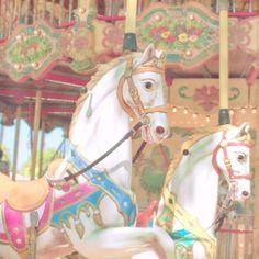 Horse Carousel Photograph Art Print Carnival Photography Whimsical Nursery Art Nursery Decor. $18.00, via Etsy.
