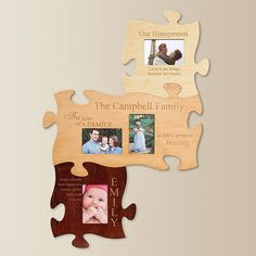 Family Wood Veneer Puzzle Wall Plaque