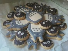 Totoro & Sooth balls cookies :D #Miyazaki #Ghibli