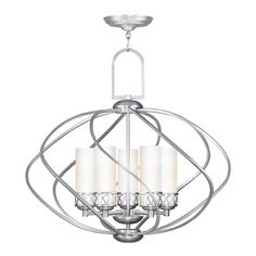 Buy the Livex Lighting Brushed Nickel Direct. Shop for the Livex Lighting Brushed Nickel Westfield 5 Light 1 Tier Chandelier and save. Brushed Nickel Chandelier, Ceiling Lights, Livex Lighting, 5 Light Chandelier, Transitional Chandeliers, Lights, White Glass, Light, Pendant Lighting