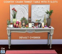 Contry charm trinket table 71 slots at Sims 4 Studio via Sims 4 Updates