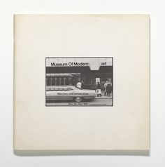"Yoko Ono . Museum Of Modern (F)art. 1971. Exhibition catalogue, offset, 11 13⁄16 x 11 13⁄16 x 3⁄8"" (30 x 30 x 1 cm). The Museum of Modern Art Library, New York. © 2015 Yoko Ono"