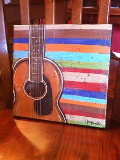 New Acoustic Guitar Painting | Jenny Hall Art