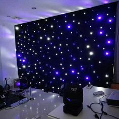 4 metro x 4 metro led starlight pano de fundo cortina casamento evento festa azul e branco cortinas led para palco backdrops Backdrops For Parties, Stage Backdrops, Balloon Arch Diy, Party Kulissen, Glamour Decor, Personalized Baby Shower Favors, Church Stage Design, Prom Decor, Quinceanera Party