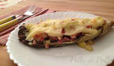 Radicchio rosso ripieno con patate a cubetti, pancetta e scamorza, gratinato al forno con cremosa besciamella. Ricetta sfiziosa, facile e veloce!
