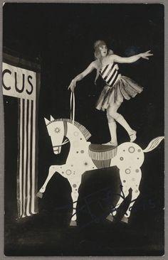 Eckner Atelier [Schawinsky's Circus, Bauhaus Fest, Weimar] about 1924-25