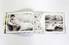 Ślub. Fotoksiążka (wedding photobook) izziBook Extra Flat o miękko układających się kartach. Fotoksiązka otwiera się na płasko dzięki zastosowaniu innowacyjnego, opatentowanego papieru.