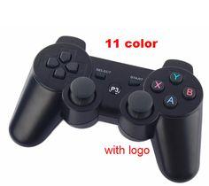 Không dây Bluetooth Bộ Điều Khiển Cần Điều Khiển Đối Với PS3 (11 màu) sixaxis Dualshock logo Thương Hiệu Gamepad Cho các trò chơi ps3