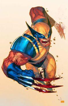 Marvel - Wolverine- by Jonboy Meyers Marvel Wolverine, Marvel Comics, Ms Marvel, Heros Comics, Logan Wolverine, Marvel Art, Anime Comics, Marvel Heroes, Wolverine Cartoon