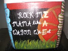 Side 2 of the cooler I made for my boyfriend's fraternity formal!
