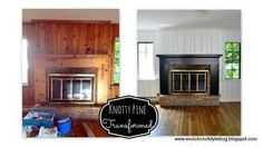 Search Knotty Pine No More Evolution Of Style on Home Decor Top Collection Painting Knotty Pine Paneling Knotty Pine Living Room, Knotty Pine Rooms, Knotty Pine Cabinets, Knotty Pine Kitchen, Knotty Pine Paneling, Paint Over Wood Paneling, Wood Paneling Makeover, Wood Panel Walls, Painted Pine Walls