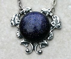 Constellation Necklace with Blue Goldstone by robinhoodcouture, $28.00