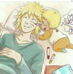 """""""avdmor: """" Young naruto members """" Minato would let him do that! """" Yeah ur right he totally would, he'd probably even go out in public if Naruto wanted him to 💜 But Kashi in his Pakkun. Naruto Minato, Itachi Vs Sasuke, Anime Naruto, Naruto Meme, Naruto Funny, Manga Anime, Naruto Fan Art, Familia Uzumaki, Familia Anime"""