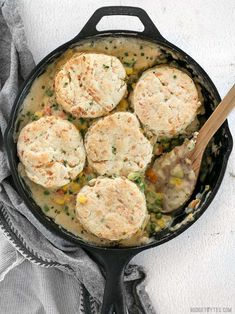 This rich and comforting Vegetable Pot Pie Skillet is made fast and easy for weeknight dinners thanks to frozen vegetables. Comfort food all in one skillet! Budgetbytes.com Frozen Vegetables, Mixed Vegetables, Quorn Chicken, Vegetable Pot Pies, Vegetarian Entrees, My Best Recipe, Skillet Meals, Weeknight Dinners, Meal Planning