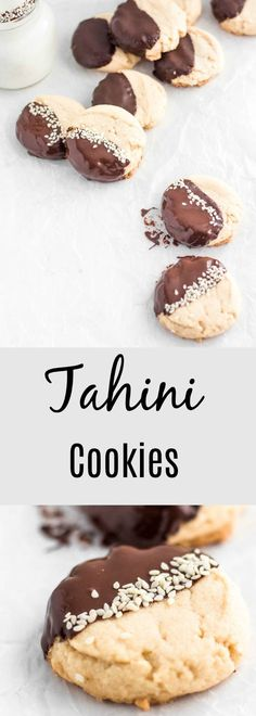These Tahini Maple cookies are a mouthful of deliciousness. Just 3 easy steps and you have the best companion to a hot drink or milk. Delicious Cookie Recipes, Best Cookie Recipes, Yummy Cookies, New Recipes, Sweet Recipes, Baking Recipes, Favorite Recipes, Syrup Recipes, Healthy Desserts