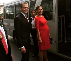 Crown Princess Victoria and Prince Daniel Visit Peru - 1st Day  -- Victoria expecting her second child.