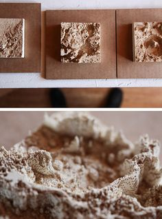 laser cut Mars topography Mars topography from laser cut paper strips.– after spending last semester making topo cardboard models i can fully appreciate how wild this is Layered Architecture, Cardboard Model, Laser Cut Paper, Landscape Model, Arch Model, Technical Drawing, Texture Art, Art Plastique, Cartography