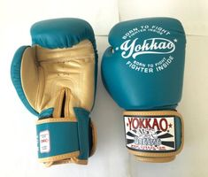 8oz YOKKAO VINTAGE BOXING BLUE GLOVES Blue Gloves, Vintage Box, Muay Thai, Boxing, Sports, Ebay, Hs Sports, Sport, Brass Knuckles