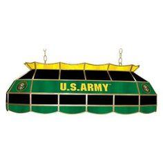 Trademark ARMY4000-SYM U.S. Army Symbol 40 Inch Pool Table Light - ARMY4000-SYM