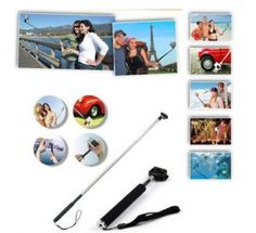 Extendable Selfie handled Monopod Wireless Bluetooth Remote shutter purple smartphone iphone android by laptopparts
