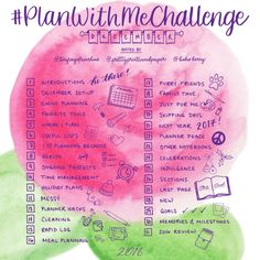 Who's ready for a new #PlanWithMeChallenge? :)