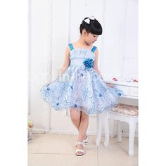 Girl's Fashion Mooi condoleren Roses Geborduurde Princess Dress - EUR €18.61