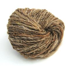 Handspun merino, alpaca and silk plant dyed yarn with sparkly gold angelina - 75 yards, 1.95 ounces/ 56 grams