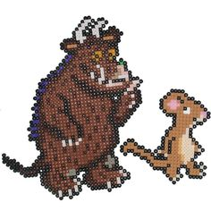 The Gruffalo Picture Beads Kit Mouse And Gruffalo Melty Bead Patterns, Hama Beads Patterns, Beading Patterns, Hamma Beads Ideas, Hama Art, Room On The Broom, Baby Boy Knitting Patterns, The Gruffalo, Hama Beads