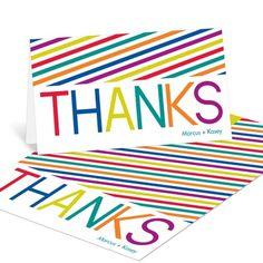 Thank You Cards -- Multicolor Celebration